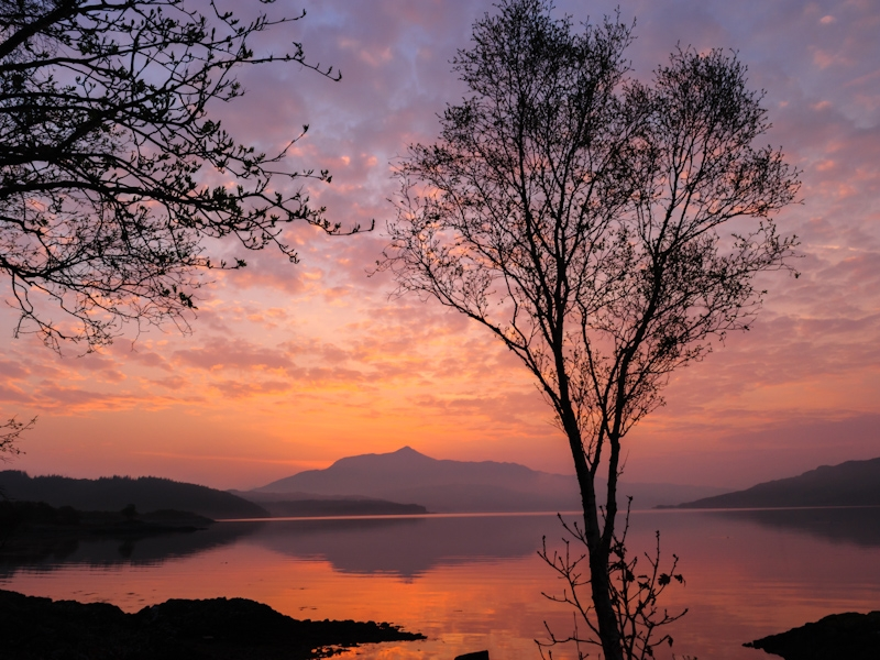 Loch Sunart at dawn, near Salen