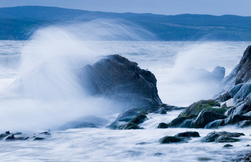Stormy seas at Imachar, Arran