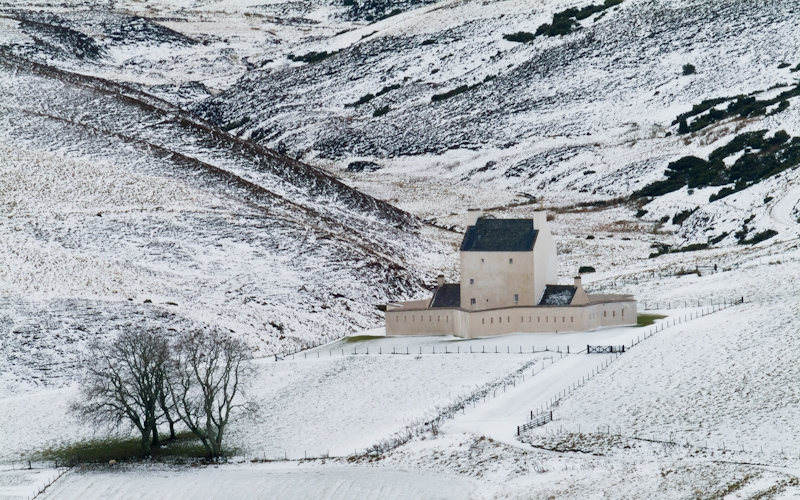 Corgarff Castle in winter, Cairngorms