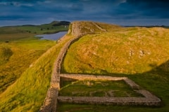 Hadrian's Wall near Twice-Brewed, Northumberland