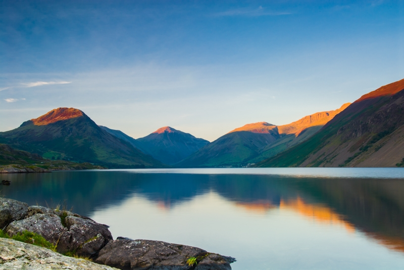 Last light, Wast Water, Cumbria