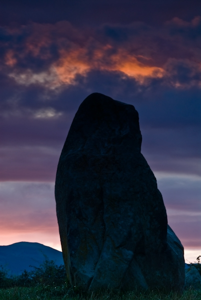 Castlerigg stone circle sunset