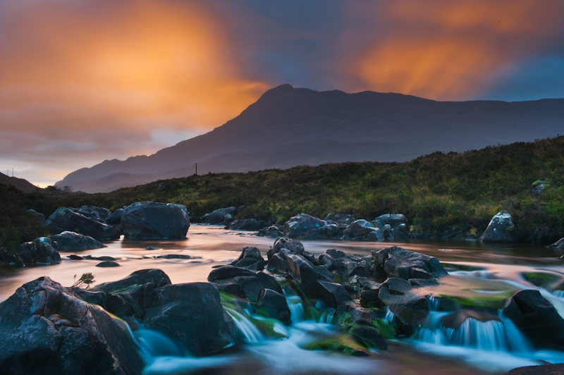 River Torridon and Sgurr Dubh, sunrise