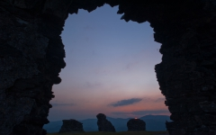 Sunset at Castell Dinas Bran